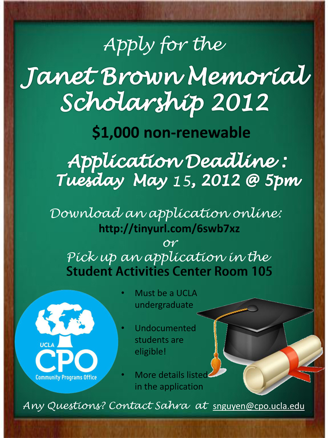 apply for the janet brown memorial scholarship   u2013 the