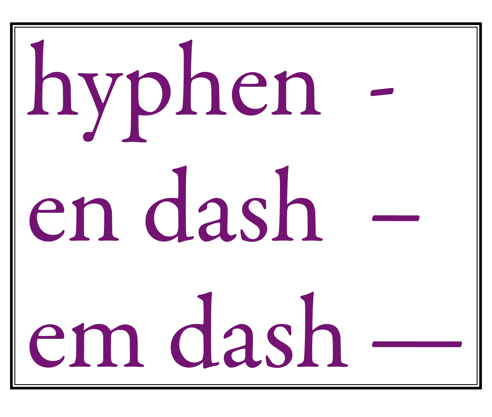 use of hyphen in writing