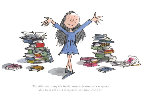 RD7001 - Roald Dahl - Matilda - This child seems to be interested in everything - Limited Edition Print - Quentin Blake Print - Matilda Signed Print .jpg