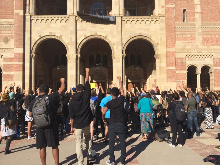 UCLA Students Protesting Grand Jury Decision. Nov. 25 2014.