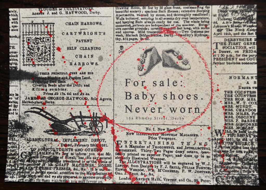 Ernest hemingway for sale baby shoes never worn what does it mean ...