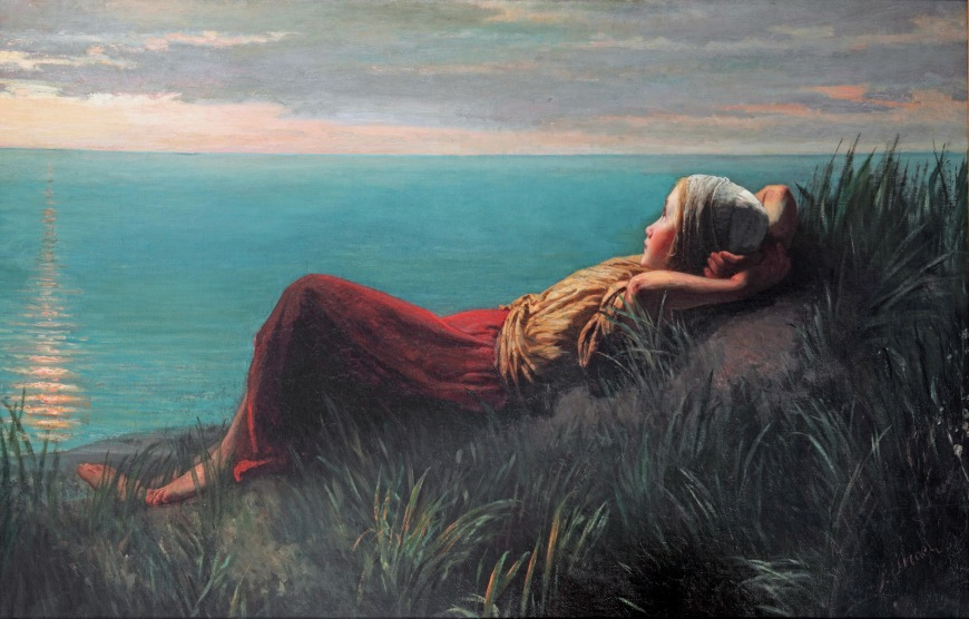 Dreaming*oil on canvas*128,5 x 201,2 cm*1860*signed b.r.: J. Israels