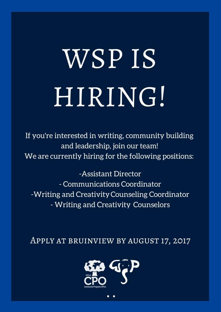 WSP Is Hiring!